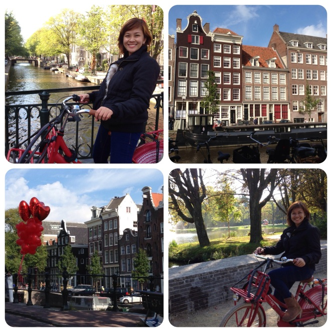 I loved exploring the streets and alleys of Amsterdam on a bicycle. The Dutch are very stylish and spiffy dressers even on bicycles!