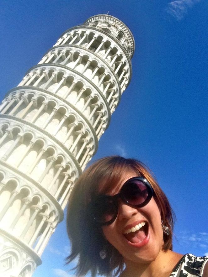 Pisa, check! Pose, check! Shame, lost! haha!