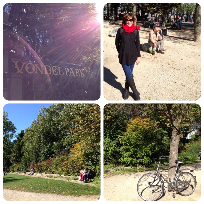 It was nice in Vondelpark, Amsterdam's version of Central Park.