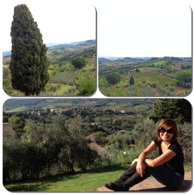 My friends and I took a day trip from Florence to explore the Tuscan countryside and three of its beautiful areas: San Gimignano, Chianti, city of Siena and Monteriggioni.