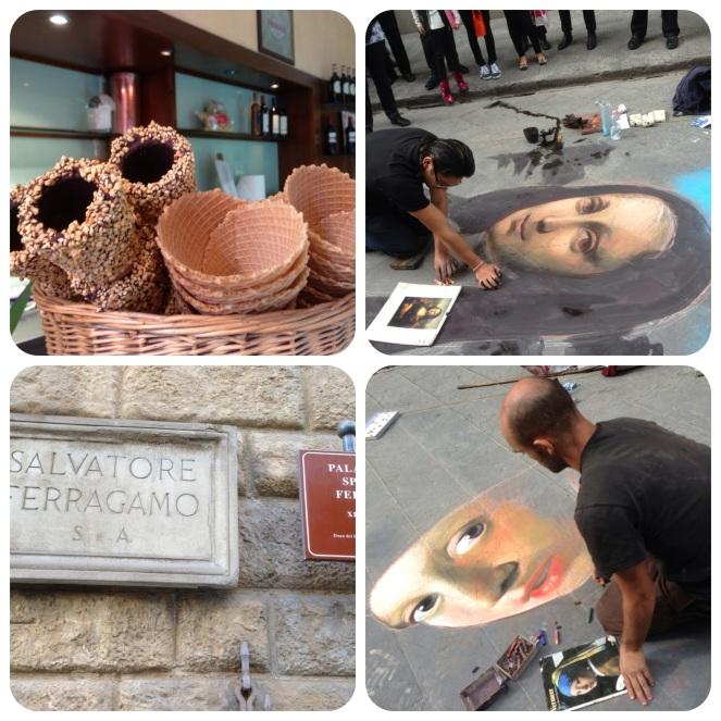 The Ferragamo headquarters, street art and gelato everywhere!