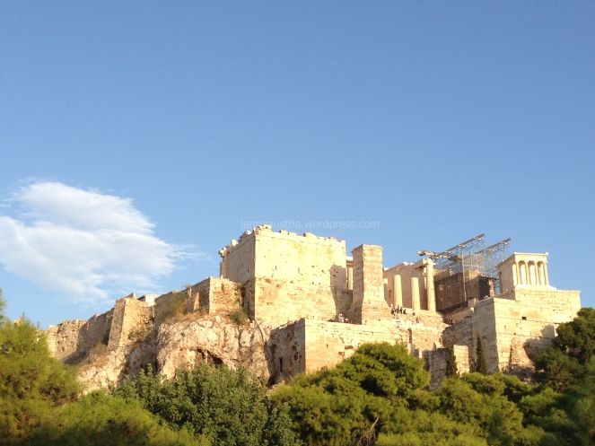 A view of the mighty Acropolis from Aries Rock