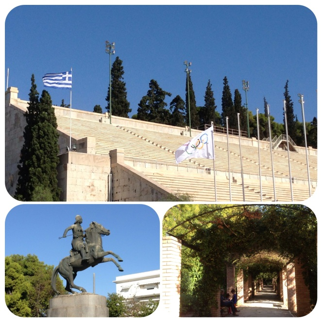 The stadium where the Olympics was held.  Below: National Garden of Athens in the center of the city.