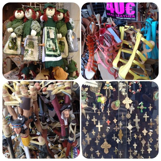 Monastiraki is full of cafes, restaurants, shopping stalls, and souvenir shops.
