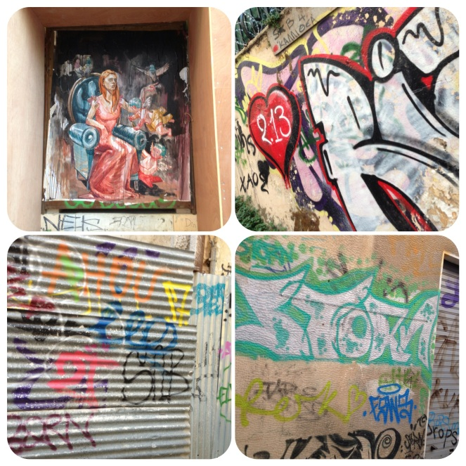 Plaka, one of the historical districts, has some very interesting street art. Athens is full of surprises!
