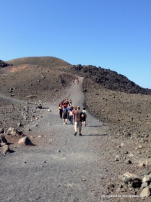 It was a loooong and very hot trek on the gravel path to the top