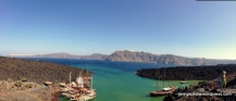 Panoramic view from from top of Nea Kameni