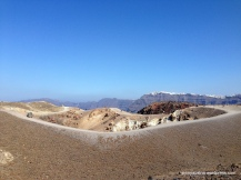 The landscape of the volcanic island