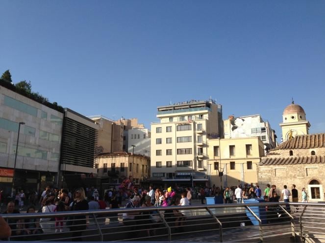I enjoyed 'people watching' at Monastiraki. It is the 'happening' market place of Athens.