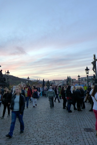 This is what the famous Charles Bridge looks like during the day.
