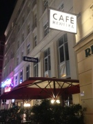 The legendary Cafe Hawelka, where whole books have been written by famous writers and where artists converged for decades.